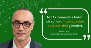 Automatisierte Sportberichte - Interview mit Harald Salg