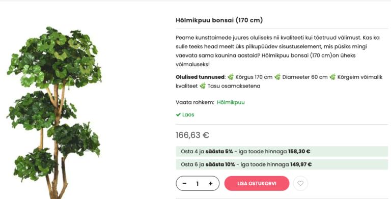 Produktbeschreibung Baum