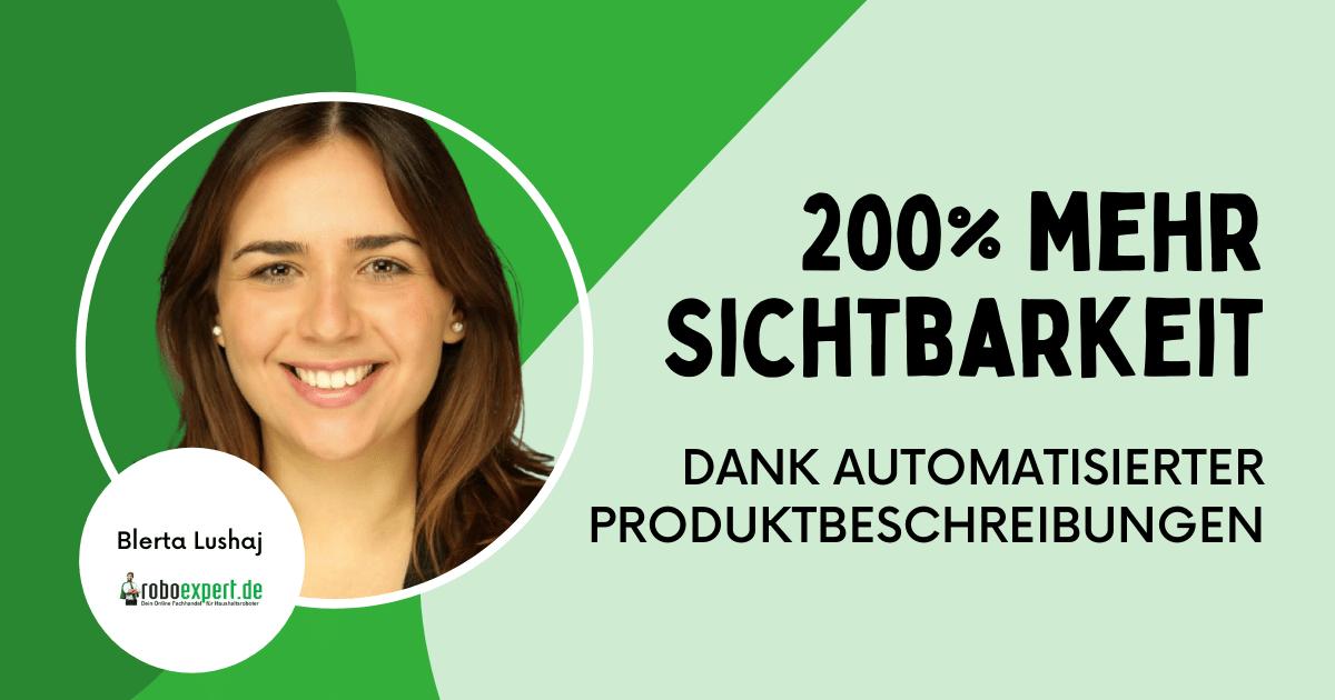 Interview roboexpert automatisierte Produktbeschreibungen