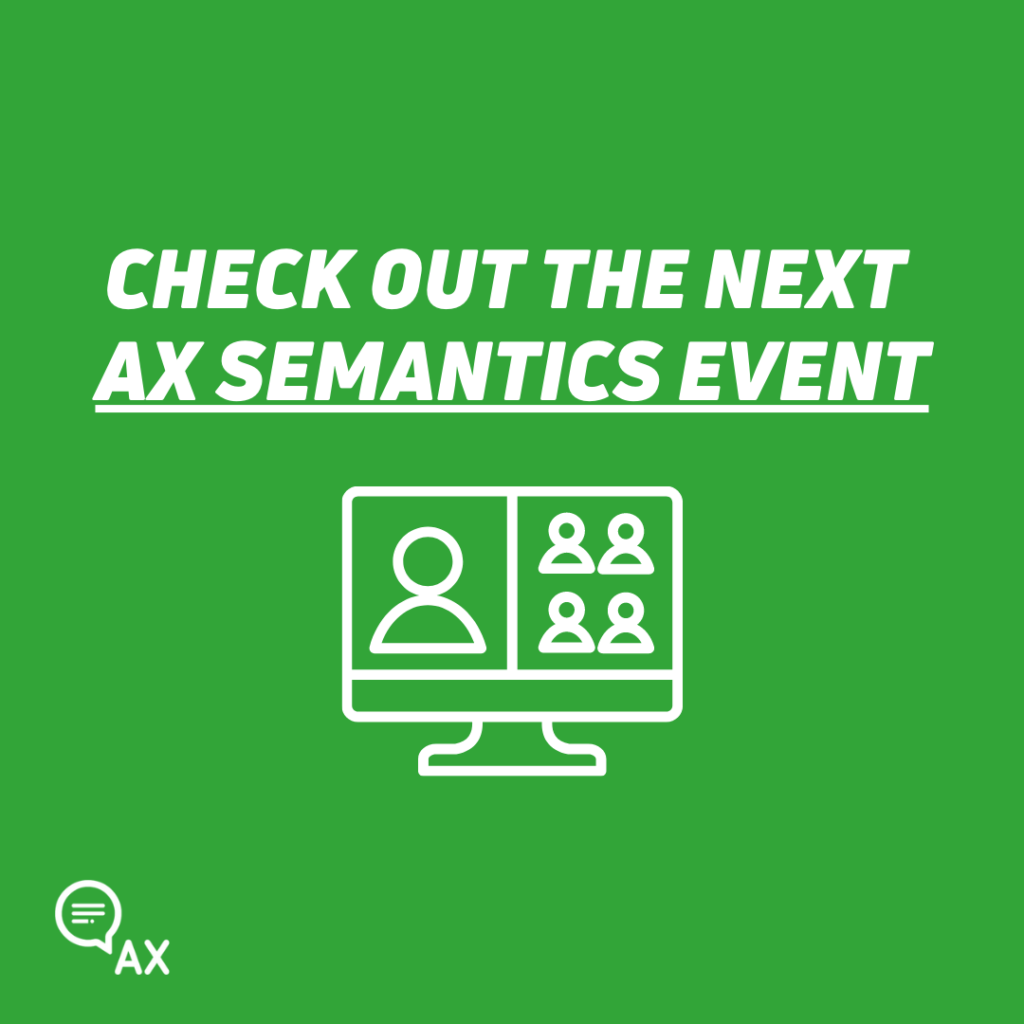 AX Semantics Event